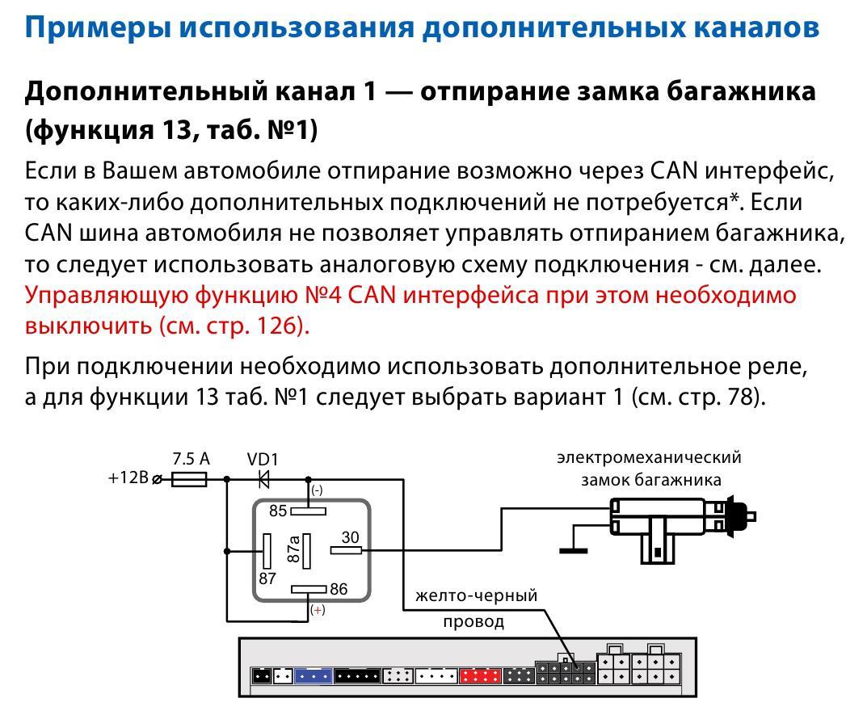 Схема подключения замка багажника фото 164
